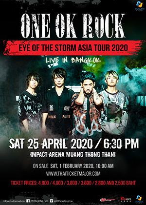 "ONE OK ROCK ""EYE OF THE STORM ASIA TOUR 2020"" LIVE IN BANGKOK"